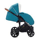 Детская коляска Tutis Mimi Style 2 в 1 Цвет морской волны + Кожа белая, фото 6