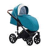 Детская коляска Tutis Mimi Style 2 в 1 Цвет морской волны + Кожа белая, фото 7