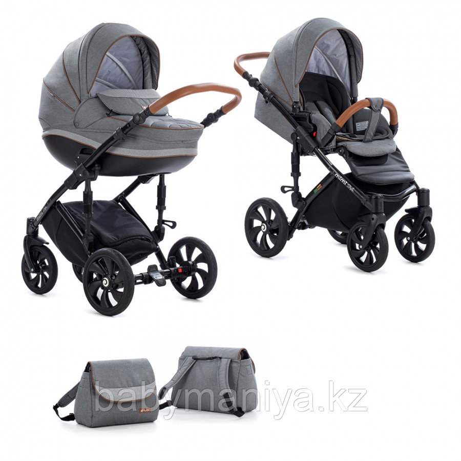 Детская коляска Tutis Mimi Style 2 в 1 Серый лён + Серый