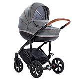 Детская коляска Tutis Mimi Style 2 в 1 Серый лён + Серый, фото 3