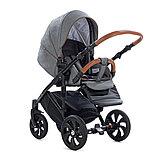 Детская коляска Tutis Mimi Style 2 в 1 Серый лён + Серый, фото 7