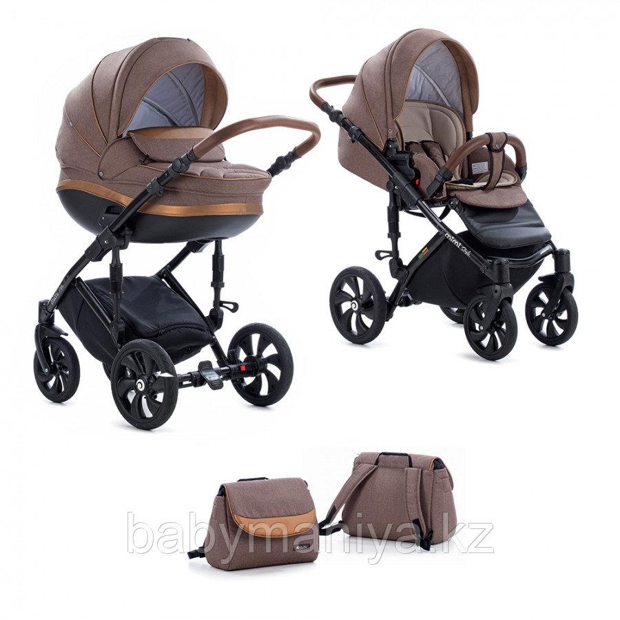 Детская коляска Tutis Mimi Style 2 в 1 Кофейный лён + Бронза