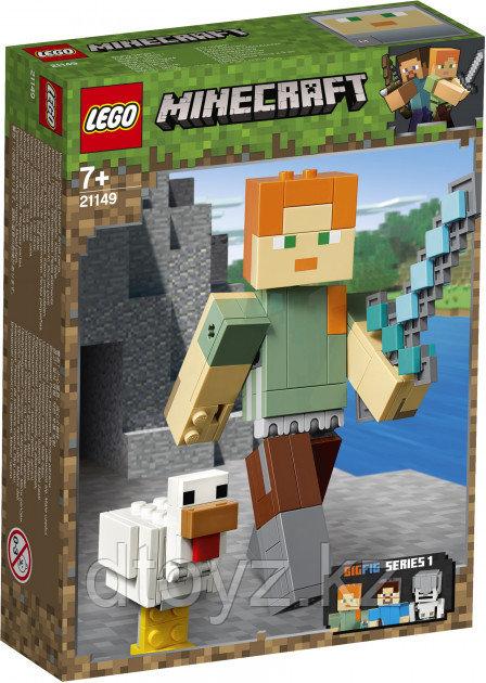 """Lego Minecraft 21149 Большие фигурки """"Алекс с цыплёнком"""", Лего Майнкрафт"""