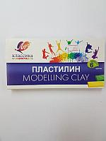 """Пластилин для детского творчества """"Modelling Clay"""" Луч 6 цветов"""