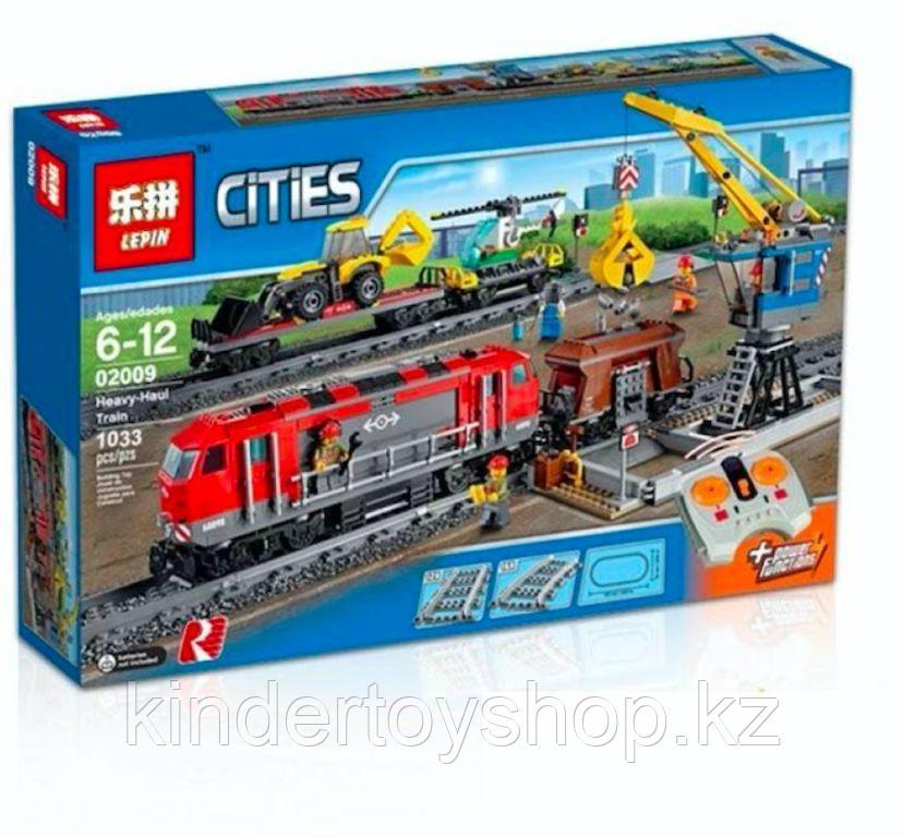 Конструктор Lego 60098 Lepin 02009 LELE 28033 Грузовой поезд Аналог лего 1078 деталей