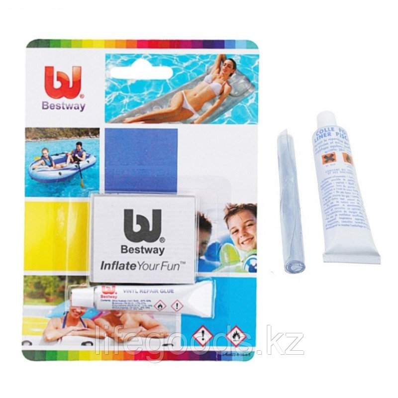 Ремкомплект для надувных матрасов, бассейнов и лодок, Bestway 62022