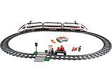 Конструктор Lego 60051, Lepin 02010 KING 28031Скоростной пассажирский поезд аналог лего 659 деталей, фото 3