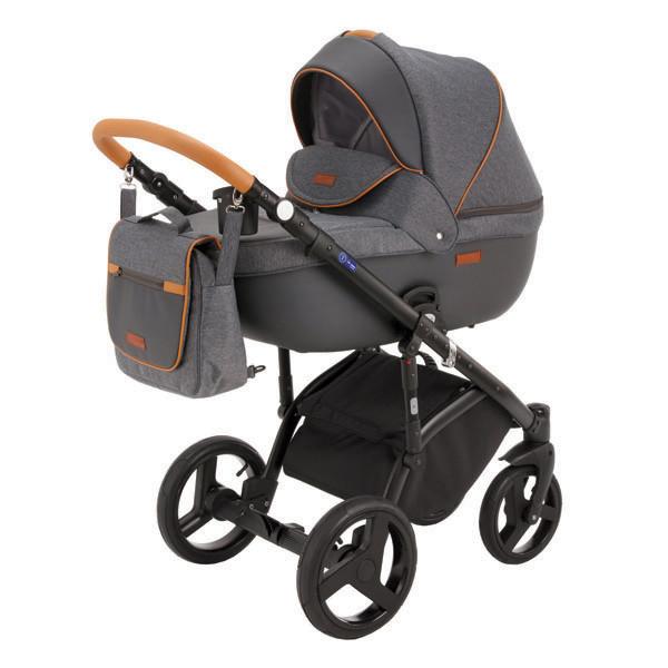 Детская коляска Adamex 3 в 1 Elsa каучуковые колеса v3
