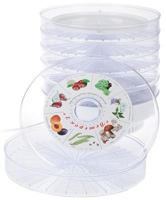 """Прозрачный электросушитель для овощей, фруктов, мяса и рыбы """"Ветерок-2"""" с шестью поддонами (нажмите на фото для увеличения)"""