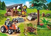 Playmobil конструктор для мальчиков «Лесопилка с трактором», фото 1