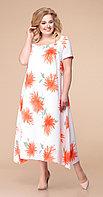 Платье Romanovich-1-1332/11, белый +оранж, 52