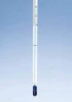 Термометр технический (-10..+210) прямой, (орг.нап), ц.д.1, длина 405 мм, частично погружаемый на 76 мм (MBL)