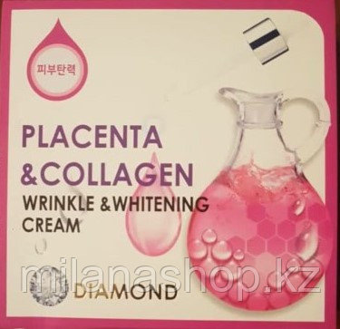 Diamond wrinkle and whitening cream placenta and collagen - Отбеливающий крем от морщин