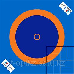 Покрытие для ковра борцовского размер 10х10 м, ткань ПВХ 630 г\м2 трехцветная, крепление люверсы