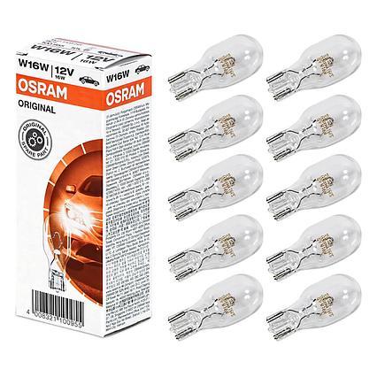 OSRAM Лампа накаливания W16W 16W 12V W2.1x9.5d ORIGINAL LINE