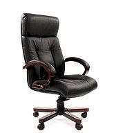 Кресло офисное для руководителя CHAIRMAN 421, кожа натуральная