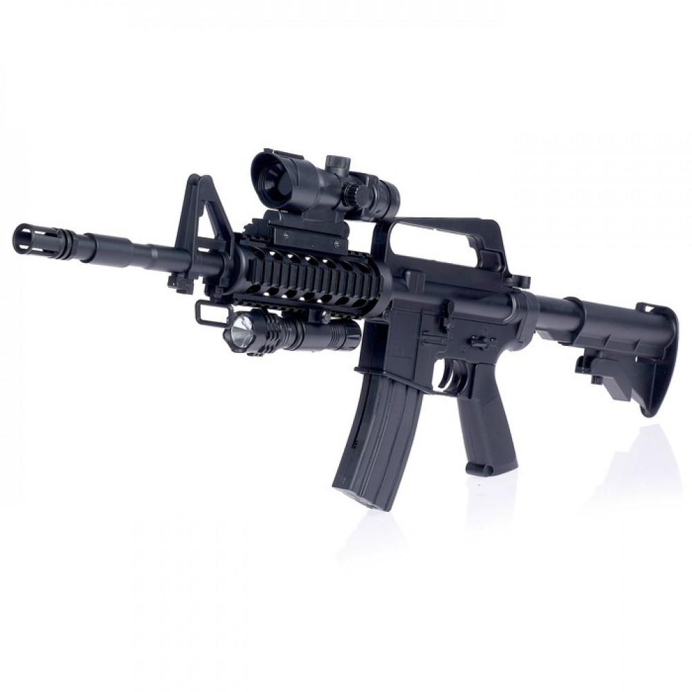 """Автомат пневматический """"M16"""", с оптическим прицелом, фонариком"""