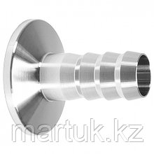 Переходник KF25 (NW25) для шланга диаметром 16 мм, нержавеющая сталь 304L