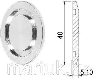 Фланец-заглушка KF25 (NW25), нержавеющая сталь 304L