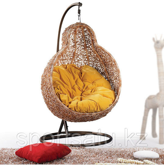 Кресло гнездо, подвесное для сада среднее