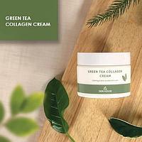 Успокаивающий антивозрастной крем с коллагеном и экстрактом зеленого чая The Skin House Green Tea Collagen Cre