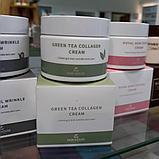Успокаивающий антивозрастной крем с коллагеном и экстрактом зеленого чая The Skin House Green Tea Collagen Cre, фото 2