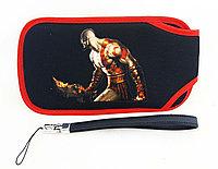 Чехол мягкий с ремешком PSP Slim 2000/3000, черный God of War