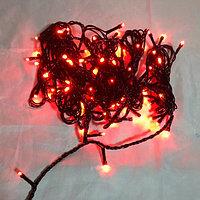 """Светодиодная гирлянда """"Нить"""" - 10 метров, 80 лампочек, красный свет, светит постоянно"""