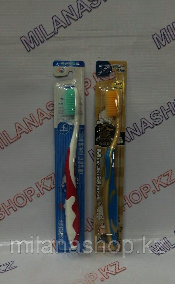 Зубная щетка (желтая, зеленая, черная)