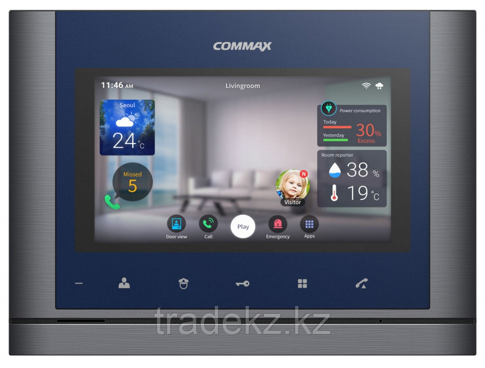 Монитор домофон цветной Commax CIOT-700M, Android, HD, Wif, IoT