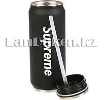 Термос Supreme с трубочкой (черный) 500ml