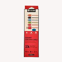 Шнур USB V-Lovable для iPhone # 5 лапша в корт.упаковке