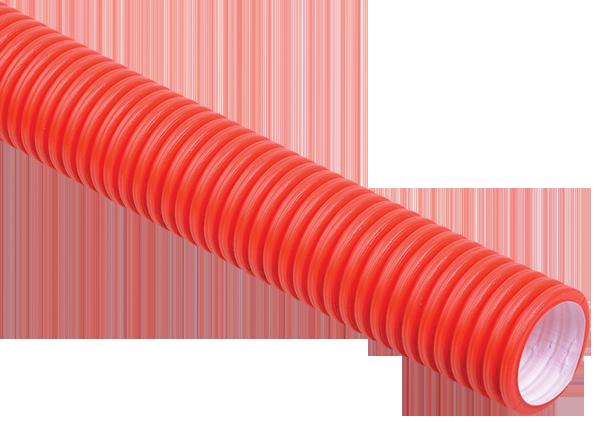 Труба гофр.двустенная ПНД/ПВД d40 красная (50м)