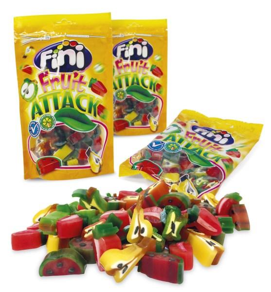 "Жев.мармелад ""Fruit attack"" фруктовая атака 100 гр   /FINI Испания/"