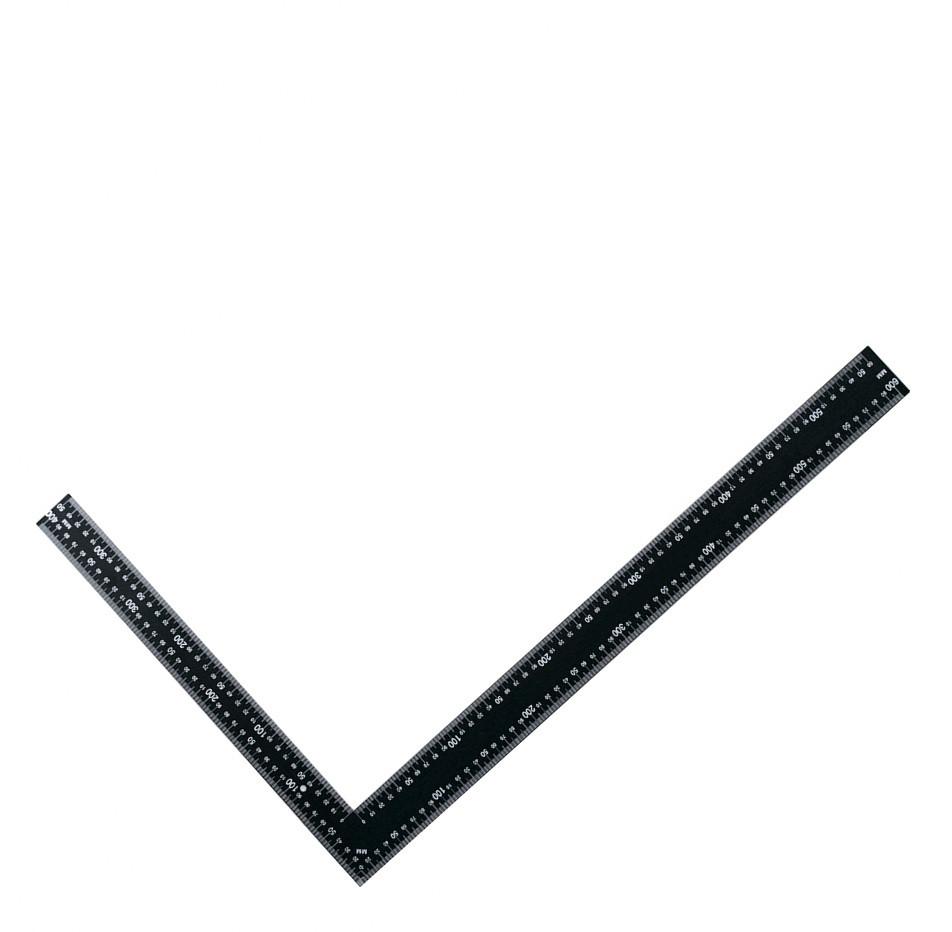 Угольник цельнометаллический (черный) 40*60 см