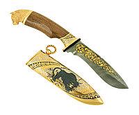 Нож из дамасской стали ручной работы ЦМ - Купить в Казахстане