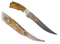 """Нож ЦМ """"Азия"""" (сталь булатная, серебро) - Купить в Казахстане"""