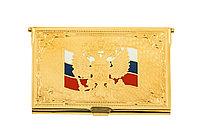 """Визитница """"Флаг России"""" (элитная) - Купить в Казахстане"""
