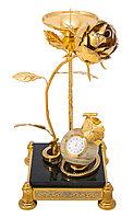 """Сувенир """"Роза"""" (подсвечник, часы) - Купить в Казахстане"""