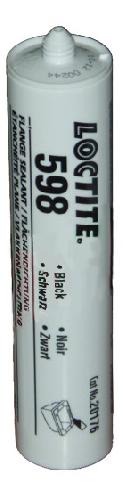 598 LOCTITE 300 ml Силиконовый нейтральный герметик черный
