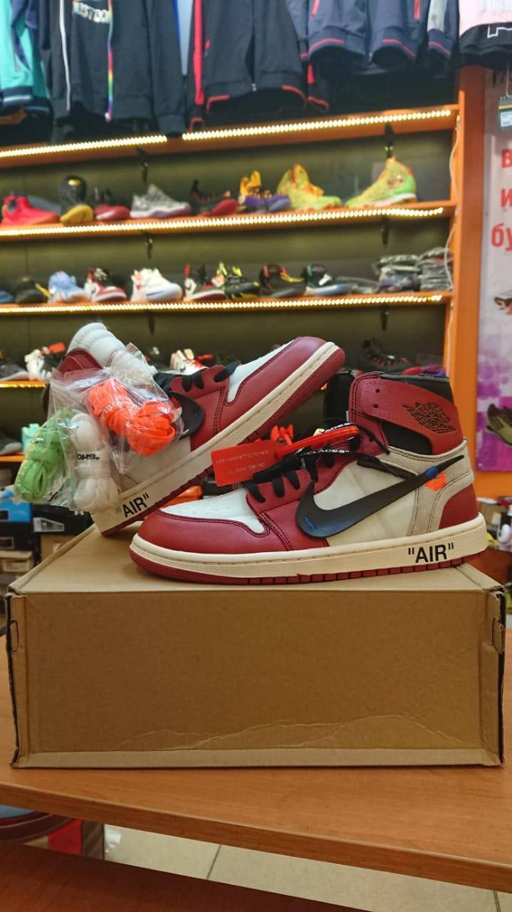 Баскетбольные кроссовки Nike Air Jordan 1 Off White размер 43, в наличии