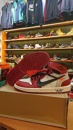 Баскетбольные кроссовки Nike Air Jordan 1 Off White размер 43, в наличии, фото 2