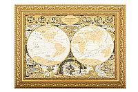 """Панно """"Карта известного мира Жана Баптиста Нолина"""" (покрытие золотом, серебром, никелем) - Купить в Казахстане"""