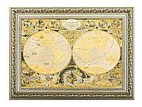 """Панно """"Карта известного мира Жана Баптиста Нолина"""" (покрытие золотом, никелем) - Купить в Казахстане"""