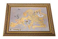 """Панно """"Символическая карта Европы 1915 года"""" (покрытие золотом, никелем) - Купить в Казахстане"""