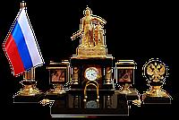 """Письменный набор """"Россия"""" из яшмы - Купить в Казахстане"""