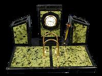 """Письменный прибор """"Бумажница с часами и календарь"""" - Купить в Казахстане"""