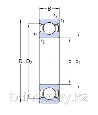 6006-2Z/C3  E2. Энергосберегающие подшипники   SKF