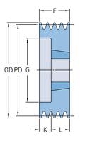 PHP 2SPB100TB   шкив SKF