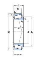 M 84548/2/510/2/QVQ506 подшипник  SKF